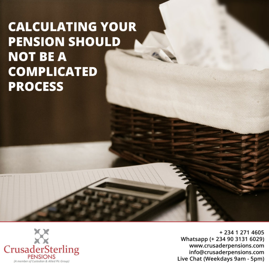 Calculating your pension should not be a complicated process