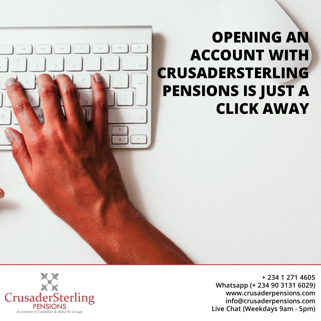 Opening an account with CrusaderSterling Pensions is just a click away