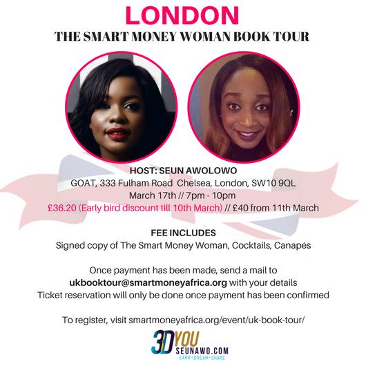 smart money woman book tour london