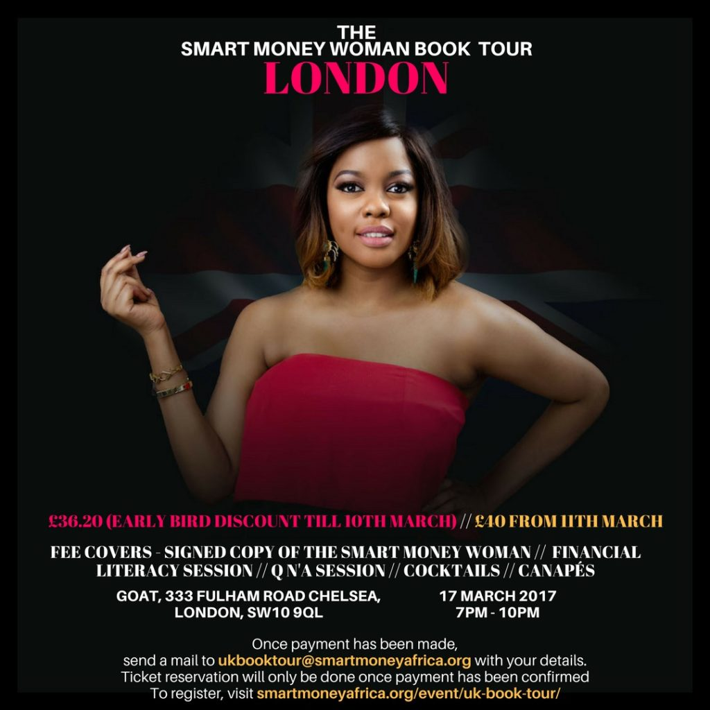 Get your tickets to The Smart Money Woman Book Tour London.